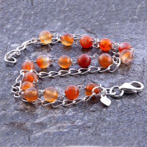 Orange Agate Classic Chain Bracelet