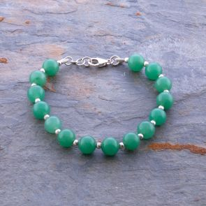 Malachite Silver Ball Bracelet